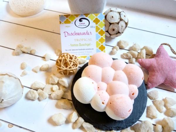 OANA Handmade Duschwunder für Tropical 100g, verpackt in Zellglastüte