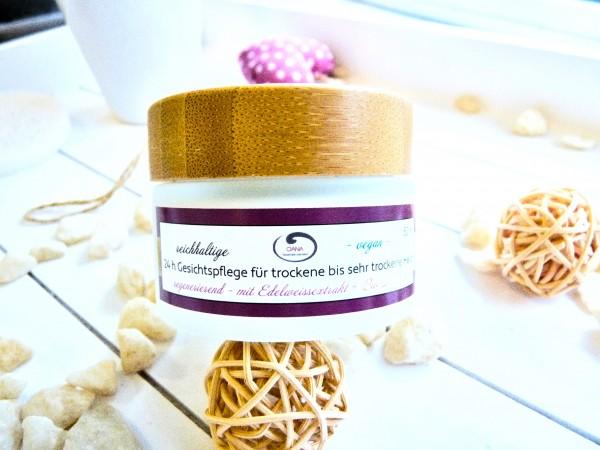 OANA Handmade 24 h Gesichtspflege für trockene bis sehr trockene Haut, 50 ml, vegan