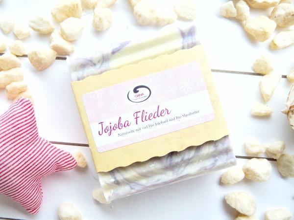 OANA Handmade Naturseife Jojoba Flieder, vegan, 100 g