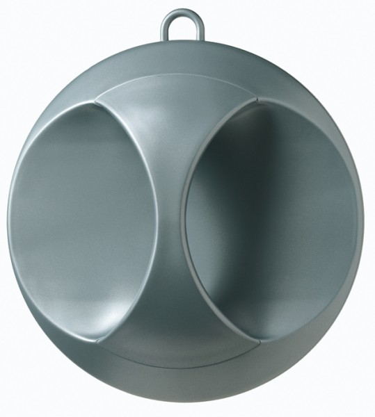 Comair Kabinett-Spiegel Elegant silber matt 25cm
