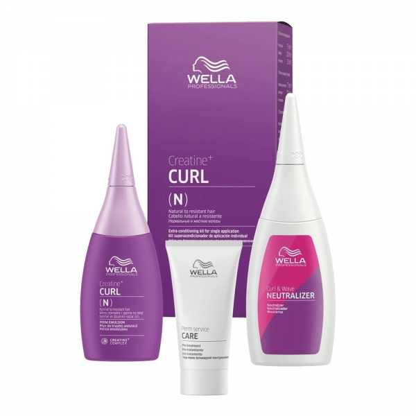 Wella Professional Texture Plex Crea+ Curl N/R Hair Kit 75ml+30ml+100ml