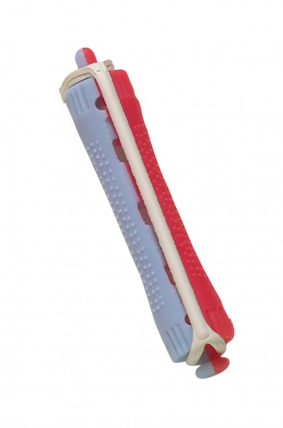 Comair Kaltwell-Wickler 2-farbig 12er 11mm kurz Rundgummi blau/rot Kaltwellwickler
