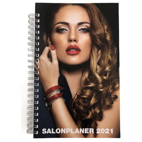Salonplaner 2021, Friseurplaner Friseurkalender Terminbuch Vormerkbuch Terminplaner 2021