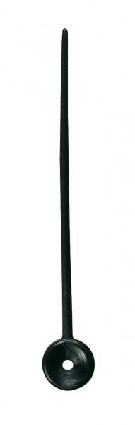 Comair Plastikstecker 100St Btl schwarz 7,3cm