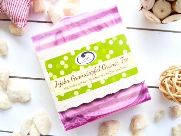 OANA Handmade Naturseife Jojoba Granatapfel Grüntee, vegan, 100 g