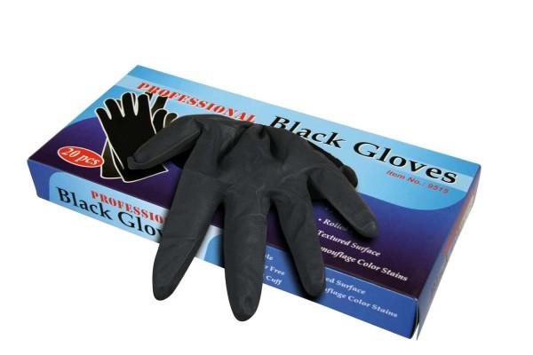 Comair Handschuhe Latex groß 20St schwarz Professional Black Gloves Latexhandschuhe