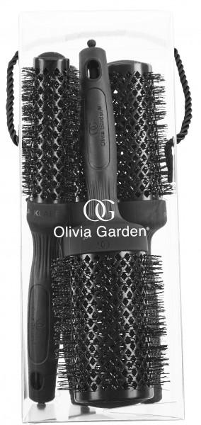Olivia Garden Black Label Rundbürste Thermal 4er Set