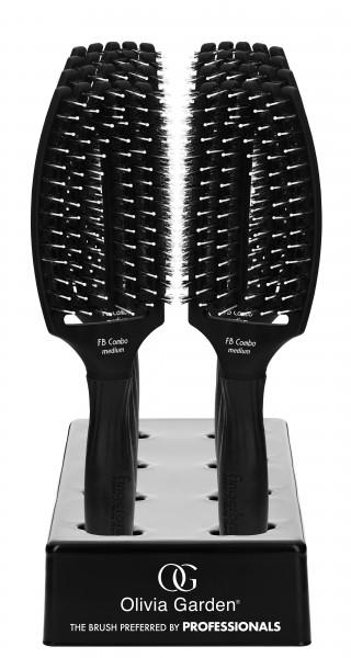 OG FingerBrush Combo Medium black, 8er Displ.+ 1 Bürste NR