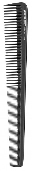 Fripac Matt Black Schneidekamm 302, starke Schrägung, 18,5 cm