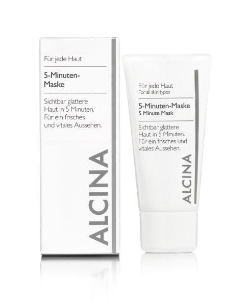 ALCINA 5-MINUTEN-MASKE Sichtbar glattere Haut und fühlbar verbessertes Hautbild 50 ml
