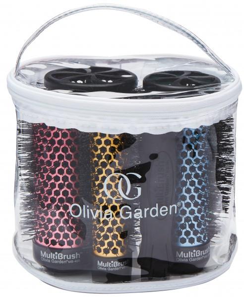Olivia Garden MultiBrush 6er Set alle Größen + Griff