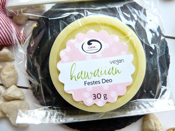 OANA Handmade Festes Deo hawaiian, 30 g, vegan