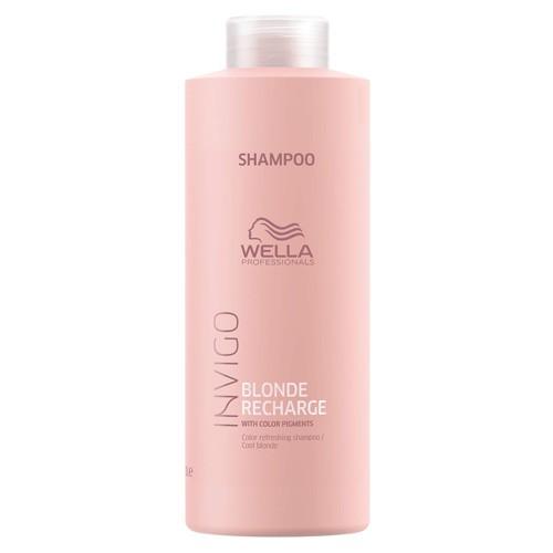 Wella Invigo Refreshing Shampoo 1000ml Blond Recharge Cool Blonde Color