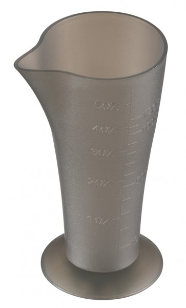 Comair Mesbecher transparent schwarz 120 ml