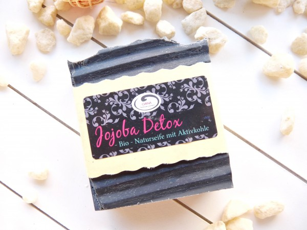 OANA Handmade Naturseife Jojoba Detox, parfümfrei, vegan, 100 g