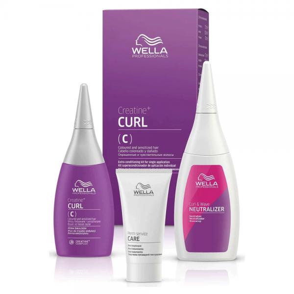 Wella Professional Texture Plex Crea+ Curl C/S Hair Kit 75ml+30ml+100ml