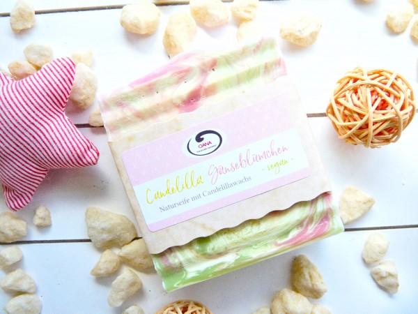 OANA Handmade Naturseife Candelilla Gänseblümchen, vegan, 100 g