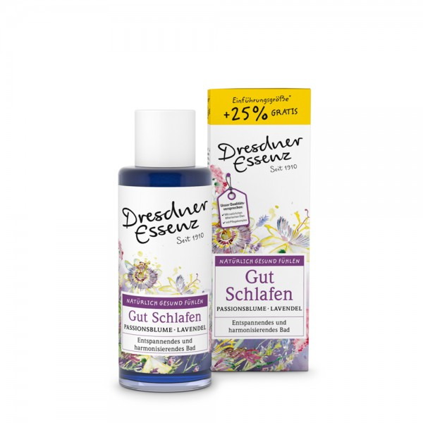 Dresdner Essenz Gesundheitsbad Gut Schlafen Passionsblume/Lavendel